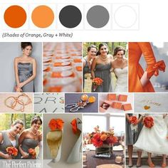 Color Palette of Coral, Peach, Pink, Tangerine and Tuape... Different. Love it.