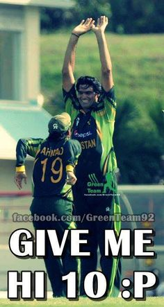 ahmad shahzad & muhammad irfan celebrating the wicket