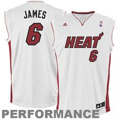 watch 4d270 820de NBA Miami Heat LeBron James Youth Home Replica Jersey (White, Medium) for  more