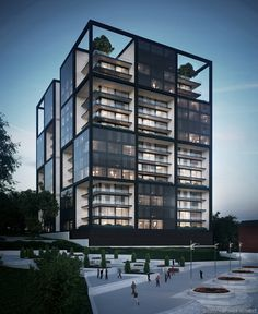 Residential building concept by Yan Soya (Ян Соя)