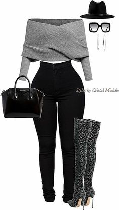 Cute Swag Outfits, Komplette Outfits, Winter Fashion Outfits, Classy Outfits, Look Fashion, Stylish Outfits, Fall Outfits, Womens Fashion, Fashion Night