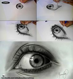 MFA - Realistic Drawings - Eyes - Pencil and Graphite - Fabriano Paper