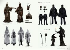 Bloodborne Concept Art - Valtr/ Shadow of Yharnam & Outfits Concept Art Bloodborne Concept Art, Bloodborne Art, Bloodborne Outfits, Old Blood, Dark Souls, Demon's Souls, Writing Characters, Fantasy Setting, The Dark World