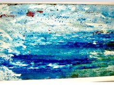 ACQUA  acrilico su tela 185x70x2.                Se prendo il verde,non vuol dire che intendo dipingere l'erba, e se prendo il blu,non significa che dipingero' il cielo, il colore esprime lo stato d'anima dell'artista