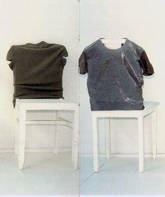 cotonblanc:    mark borthwick: 2000-1 fall–winter 1998–1999, martin margiela    note: just airing my t-shirts.