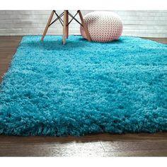 Harriet Bee Ambriz Microfiber Turquoise Area Rug Rug Size: Rectangle x Desk In Living Room, Living Room Flooring, Turquoise Rug, Teal, Aqua, Sliding Room Dividers, Fluffy Rug, Upholstered Platform Bed