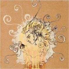 """Spinning Hair Girl"" - Artwork by Brandon Boyd"