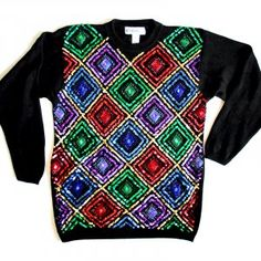 Alex will wear this gem sweater to work if he raises enough money for charity. Plus take pictures for us all to enjoy.