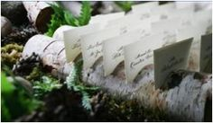 Birch Candle Holders, Place card Holders, & Table Number Holders :  wedding aspen birch candles centerpieces holders place cards reception table numbers trees Place Card Holders