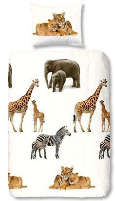 Kids-Style Dekbedovertrek 3818 Safari Dieren