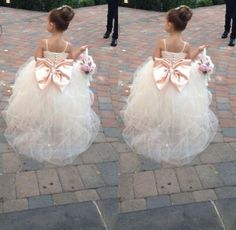 IN PINK OR BLACK! Pageant Dresses For Girls Spaghetti Sleeveless Flower Girl Dresses White Ivory Champagne Kids Ball Gowns Wedding Dress Sash Beading Belt