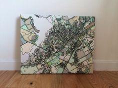 Abstract Map Print - Waco, Texas
