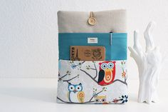 11, 13, 15, 17 inch Macbook Pro, Retina case, Custom Laptop sleeve Padded Notebook PC Cover /Owl. By TWIZE