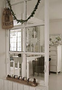 Re-purposed Window Room Divider...