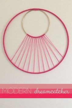 Modern Dreamcatcher DIY by Being Spiffy. Make this fun modern wall hanging with…
