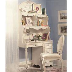 Lea Industries Jessica McClintock Romance Student Desk & Large Hutch