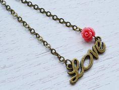 Adorable LOVE charm Necklace - Kim Jewelry Design