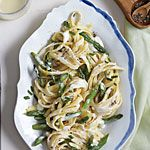 Fettuccine Alfredo with Asparagus Recipe from Cooking Light (Sept 2014)