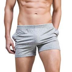 SUPERBODY Arrow Pants Casual Sleep Antibacterial Bodybuilding Pockets Soft Underwear for Men