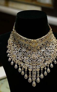 Uncut Diamond Necklace | boutiquedesignerjewellery.com