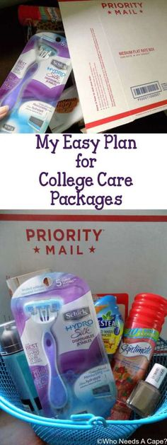 My Easy Plan for College Care Packages keeps me organized & ready to send items to my daughter in college. She'll love getting items from home regularly. #ad #SchickSummerSelfie