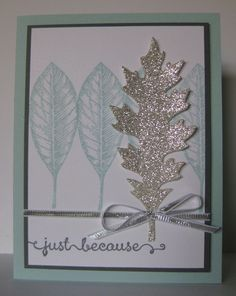 Soft & Pretty Vintage Leaves Card - SU - Vintage Leaves, A Dozen Thoughts - All Occasion - a Dena Rekow case (by Barb Mann)