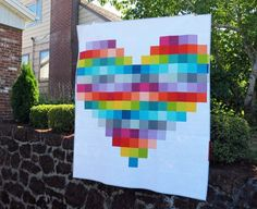 Pixelated Heart - free pattern from Oh Fransson