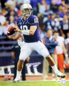 Jake Locker Signed Washington Huskies 16x20 Photo - Sports Memorabilia