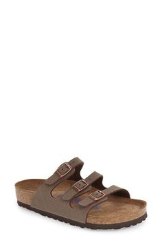 Free shipping and returns on Birkenstock 'Florida Birkibuc' Soft Footbed Sandal (Women) at Nordstrom.com. Three adjustable straps made from soft Birkibuc synthetic nubuck perfect the fit of a casual sandal fitted with Birkenstock's legendary footbed that mimics the shape of your foot and provides excellent arch support.