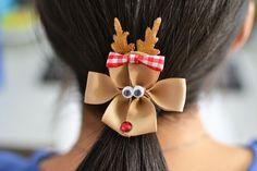 DIY Christmas Reindeer Hair Clips!