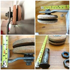 Wheels for sale :  How to attach the wooden wheels for sliding door hardware