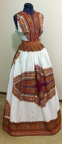 Dashiki Maxi Dress by AdornedbyNicole on Etsy