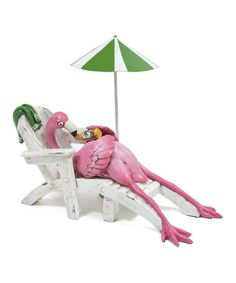 Loving this Lounging Flamingo I Figurine on #zulily! #zulilyfinds