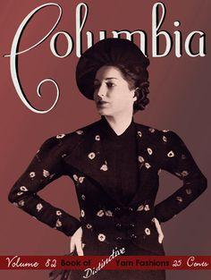 Columbia (82) c.1936 Vintage WWII Era Designer Knitting Pattern Book