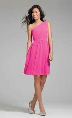 Alfred Angelo 7243S One Shoulder Bridesmaid Dress Price:  $149.99