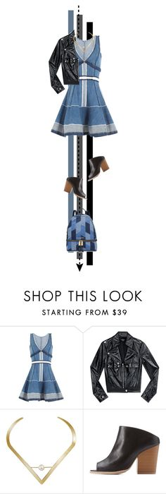 """""""denim + leather"""" by cnle ❤ liked on Polyvore featuring Dsquared2, Bebe, Edge of Ember, Qupid and MICHAEL Michael Kors"""