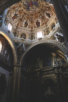 Capilla en el interior del Templo Santo Domingo en Oaxaca, Mexico.