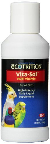 8 In 1 Pet Products BEOD328 Vita-Sol High Potency Multi-Vitamin Bird Supplement 4-Ounce