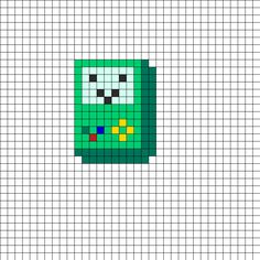 Adventure Time BMO Perler Bead Pattern | Bead Sprites | Characters Fuse Bead Patterns