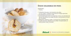 Snack saludable de pera