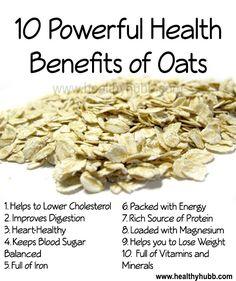 10 Powerful Health Benefits of Oats! #wellness #nutrition #healthy #food…