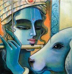Music arte canvas life 41 ideas for 2019 Krishna Drawing, Krishna Art, Lord Krishna, Shiva, Radhe Krishna, Pichwai Paintings, Indian Art Paintings, Original Paintings, Ganesha Painting