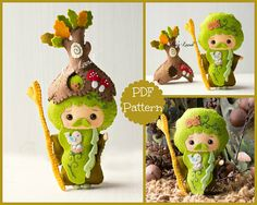 PDF. The wizard Father Forest. Plush Doll Pattern Softie