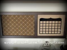 Fabric Covered Cork Board Message Center