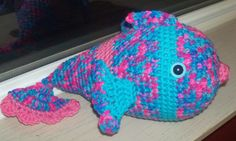 Tropical Striped Fish  Crochet Fish in Bright by BeyondCrochet, $15.00