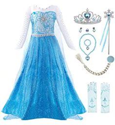 Little Girl Princess Dresses, Princess Fancy Dress, Princess Party, Queen Halloween Costumes, Girl Costumes, Halloween Cosplay, Cap Dress, Dress Up, Elsa Dress