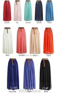 New Women Double Layer Chiffon Pleated Retro Long Elastic Waist Maxi Dress Skirt Skirt Outfits, Dress Skirt, Dress Up, Cute Outfits, Hijab Fashion, Fashion Outfits, Womens Fashion, Maxi Floral, Fashion Vestidos