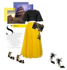 """""""Maria-Teresa in Rome"""" by theitalianglam ❤ liked on Polyvore featuring Parlor, Cameo, Jimmy Choo, Salvatore Ferragamo, Chanel, SalvatoreFerragamo and parlor"""