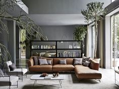 Living+Rooms+With+Brown+Sofas:+Tips+And+Inspiration+For+Decorating+Them