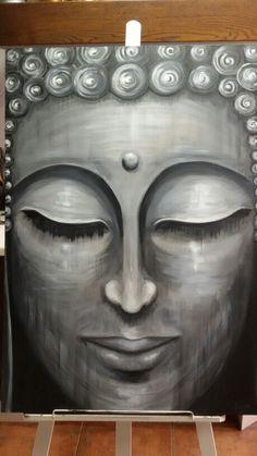 Acrílico sobre lienzo.  Buda Por Yolanda Monge.  Jolymh.